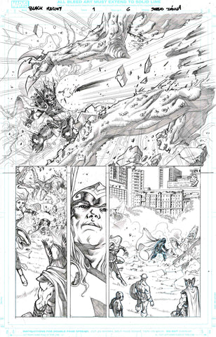 Sergio Davila Original Art Black Knight #1 Page 6