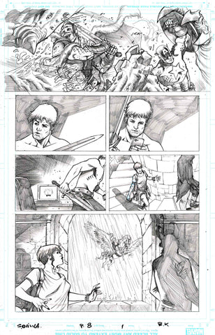 Sergio Davila Original Art Black Knight #1 Page 8
