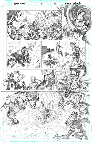 Sergio Davila Original Art Black Knight #1 Page 9