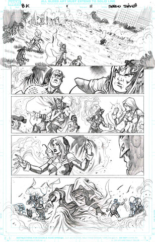 Sergio Davila Original Art Black Knight #1 Page 11
