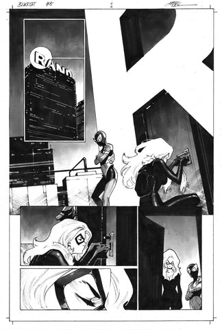 Dike Ruan Original Art Black Cat #8 Page 1