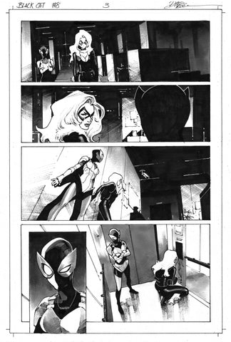 Dike Ruan Original Art Black Cat #8 Page 3