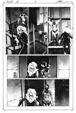 Dike Ruan Original Art Black Cat #8 Page 5