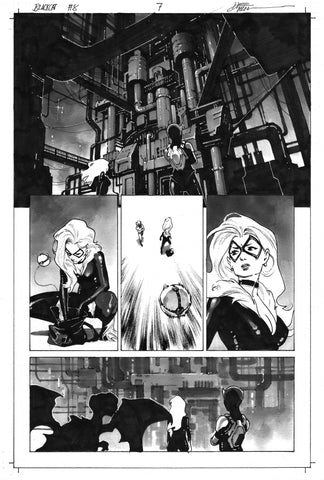 Dike Ruan Original Art Black Cat #8 Page 7