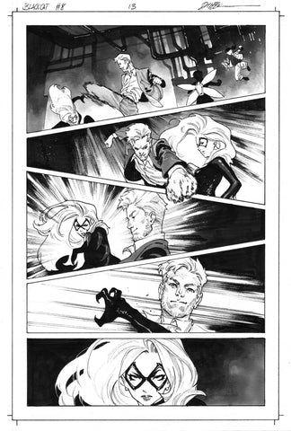 Dike Ruan Original Art Black Cat #8 Page 13