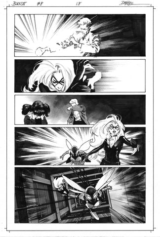 Dike Ruan Original Art Black Cat #8 Page 18