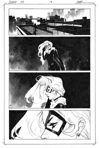 Dike Ruan Original Art Black Cat #8 Page 19