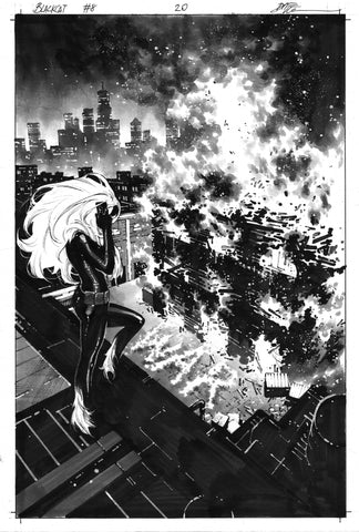 Dike Ruan Original Art Black Cat #8 Page 20