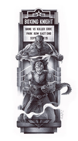 Stephanie Lavaud Original Art Killer Croc & Bane Gotham Art Deco Collection