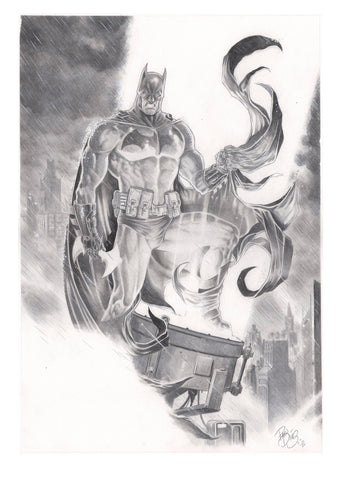 Paco Diaz Original Art Batman Illustration