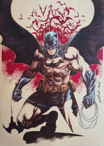Emilio Laiso Original Art Batman Illustration