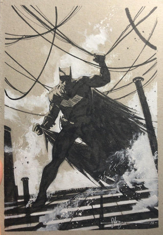 Javier Fernandez Original Art Batman Illustration