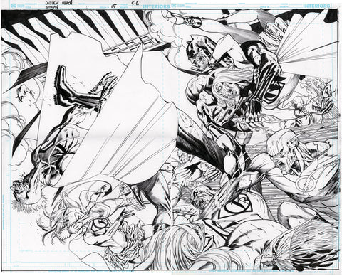 Guillem March Original Art Batman #65 Double Page Spread 4-5