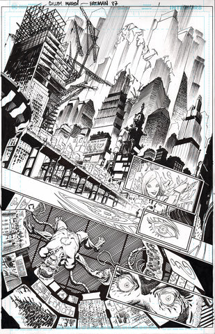 Guillem March Original Art Batman #87 Page 1