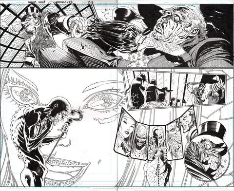 Guillem March Original Art Batman #87 Page 2-3 Double Page