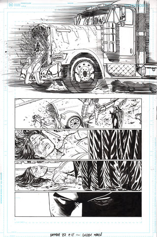 Guillem March Original Art Batman #87 Page 18