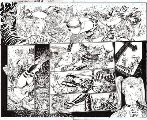 Guillem March Original Art Batman #89 Double Page 6-7