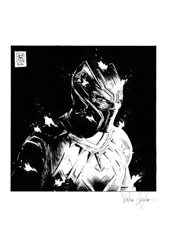 Valerio Giangiordano Original Art Black Panther Illustration