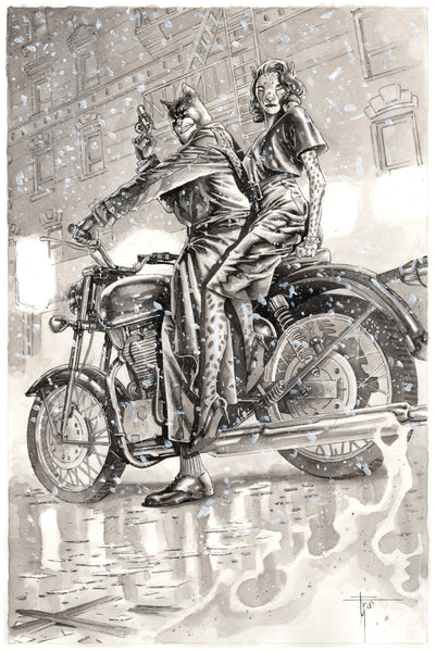 Francesco Mobili Original Art Blacksad Illustration