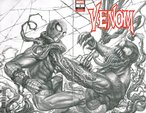 Pepe Valencia Original Art Spider-Man vs Venom Blank Cover