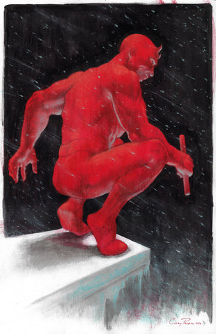 Casey Parsons Original Art Daredevil Illustration