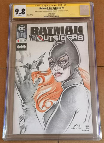 Stephanie Lavaud Original Art Batgirl CGC Signature Series 9.8
