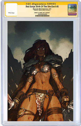 CGC SIGNATURE SERIES 9.8 Red Sonja: Birth of the She-Devil #3 500 Limited Virgin Cover by Gerald Parel