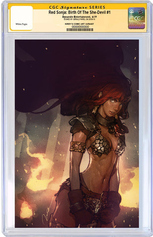 CGC SIGNATURE SERIES Red Sonja: Birth of the She-Devil #1 500 Limited Virgin Cover by Gerald Parel