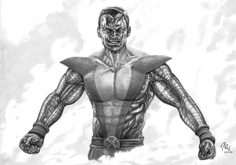 Pepe Valencia Original Art Colossus Graphite Illustration