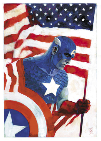 Alex Maleev Original Art Avengers #1 Captain America 75th Anniversary Cover