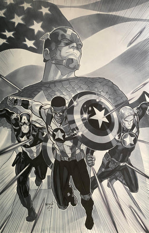 Paul Renaud Original Art Captain America: Sam Wilson #8 Cover