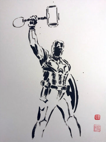David Mack Original Art Captain America Brush & Ink Collection 2