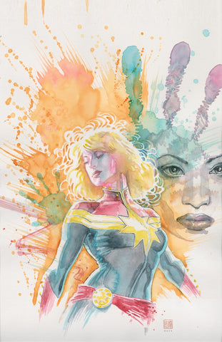 David Mack Original Art Captain Marvel #3 Cover
