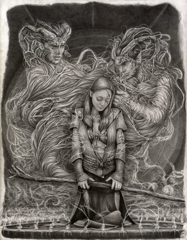 Pepe Valencia Original Art 'Caress' Graphite Illustration