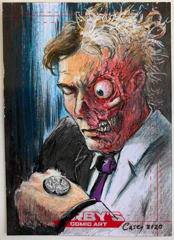 Two Face 'Rogues Collection' by Casey Parsons Sketchcard