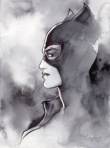 Stephanie Lavaud Original Art Catwoman Illustration