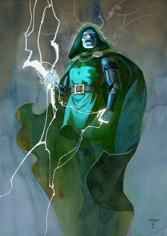 Clara Tessier Original Art Doctor Doom Illustration