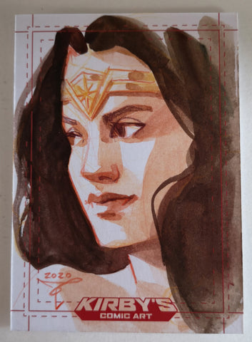 Wonder Woman 'Trinity Collection' by Clara Tessier Sketchcard