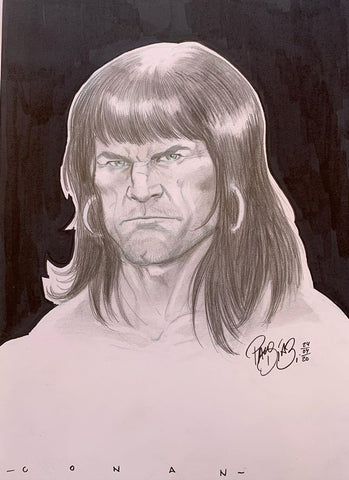 Paco Diaz Original Art Conan Sketch Illustration