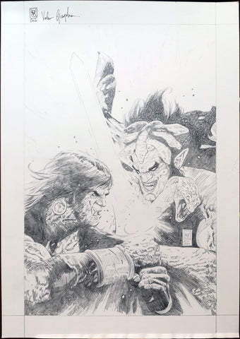 Valerio Giangiordano Original Art Conan: Battle for the Serpent Crown #5 Cover