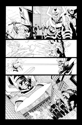 Victor Nava Original Art Inks Cosmic Ghost Rider Destroys Marvel History #1 Page 10