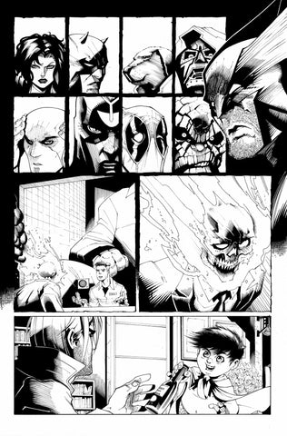 Victor Nava Original Art Inks Cosmic Ghost Rider Destroys Marvel History #1 Page 12