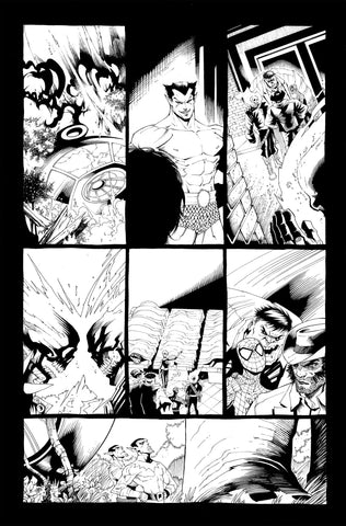 Victor Nava Original Art Inks Cosmic Ghost Rider Destroys Marvel History #1 Page 13
