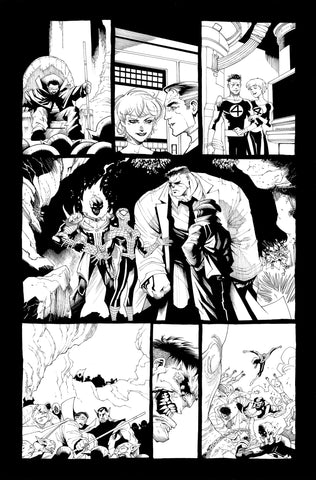 Victor Nava Original Art Inks Cosmic Ghost Rider Destroys Marvel History #1 Page 14
