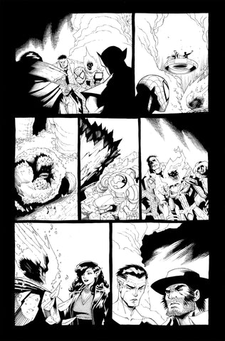 Victor Nava Original Art Inks Cosmic Ghost Rider Destroys Marvel History #1 Page 15