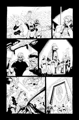 Victor Nava Original Art Inks Cosmic Ghost Rider Destroys Marvel History #1 Page 17