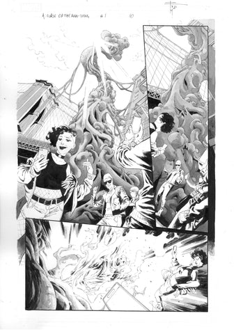 Francesco Mobili Original Art Avengers: Curse of the Man-Thing #1 Page 10