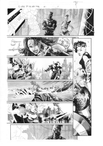 Francesco Mobili Original Art Avengers: Curse of the Man-Thing #1 Page 11