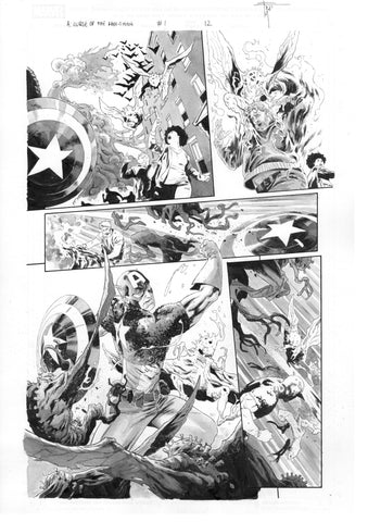 Francesco Mobili Original Art Avengers: Curse of the Man-Thing #1 Page 12