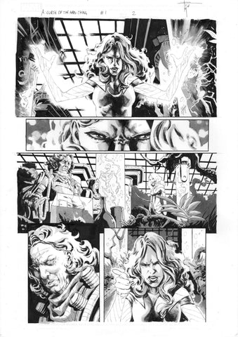 Francesco Mobili Original Art Avengers: Curse of the Man-Thing #1 Page 2